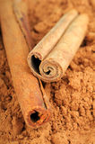 Cocoa and cinnamon Stock Image
