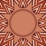 Cocoa color round text or photo template on decorative background of brown shades Royalty Free Stock Image