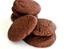 Cocoa cookies. Close-up of cocoa cookies Stock Image