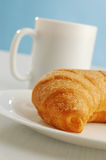 Cocoa and croissant Stock Photo