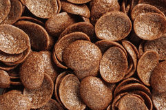 Cocoa crunch cornflakes abstract texture background Stock Photography