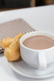 Cocoa doughstick Royalty Free Stock Photography