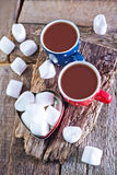Cocoa drink in cups Royalty Free Stock Photos
