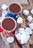 Cocoa drink in cups Royalty Free Stock Photo
