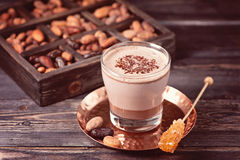 Cocoa drink from grated cocoa Stock Photo