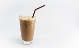 Cocoa drink. Iced cocoa drink isolated shot Royalty Free Stock Image