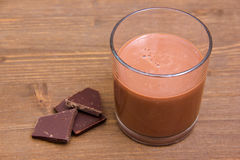 Cocoa drink on wood Stock Image