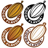 Cocoa Flavor Seal / Mark Royalty Free Stock Images