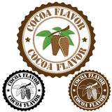 Cocoa flavor stamp. Cocoa flavor set of rubber stamps, vector illustration Royalty Free Stock Image