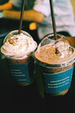 Cocoa Frappe. Nice looking cups of coffee blended frappe Stock Photography