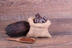Cocoa fruit Stock Photos