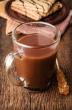 Cocoa in a glass cup Stock Photos