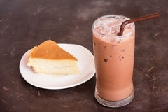 Cocoa ice and cak Stock Photography