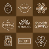 Cocoa Icon set Stock Photos