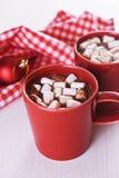 Cocoa with marshamallow Stock Photo