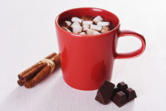 Cocoa with marshamallow Royalty Free Stock Images