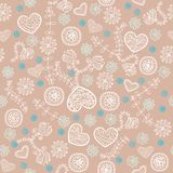 Cocoa marshmallow and mint seamless pattern Royalty Free Stock Images