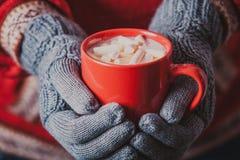 Cocoa with marshmallow Royalty Free Stock Photo
