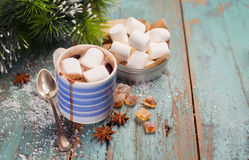 Cocoa with marshmallows Stock Photo