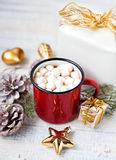 Cocoa with marshmallows at Christmas Royalty Free Stock Images
