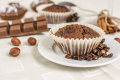 Cocoa muffin Royalty Free Stock Photos