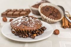 Cocoa muffin Royalty Free Stock Photography