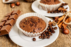 Cocoa muffin Royalty Free Stock Images