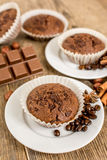Cocoa muffin Royalty Free Stock Image
