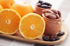 Cocoa and orange Stock Photos