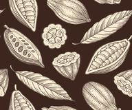 Cocoa pattern Royalty Free Stock Photos
