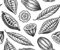Cocoa pattern Stock Image