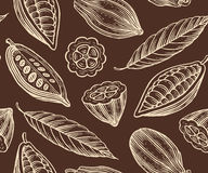 Cocoa pattern Stock Photo