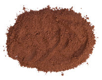 Cocoa powder. Isolated on white background Stock Photo
