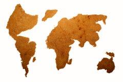 Cocoa powder. (world map), isolated Stock Photography