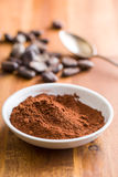 Cocoa powder in bowl Royalty Free Stock Photo