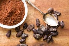 Cocoa powder in bowl Stock Photos