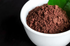 Cocoa powder in a bowl Royalty Free Stock Image