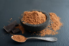Cocoa powder in a bowl Stock Images