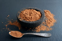 Cocoa powder in a bowl Royalty Free Stock Photography