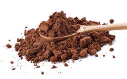 Cocoa powder. Isolated on white background Stock Photo