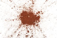 Cocoa powder. On a white background Royalty Free Stock Photo
