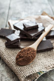 Cocoa Powder and Dark Chocolate Stock Photos
