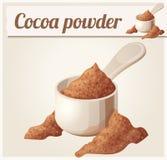 Cocoa powder. Detailed Vector Icon Royalty Free Stock Photos