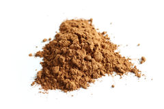 Cocoa powder isolated Royalty Free Stock Photography