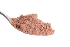 Cocoa powder isolated on white Royalty Free Stock Photography