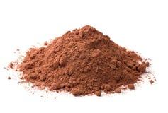 Cocoa powder. Isolated on white Stock Photos