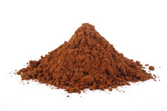 Cocoa powder isolated at on white background Royalty Free Stock Photography