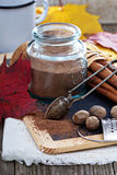 Cocoa powder in a jar Royalty Free Stock Photo