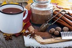 Cocoa powder in a jar Stock Photo