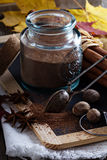 Cocoa powder in a jar Stock Photography
